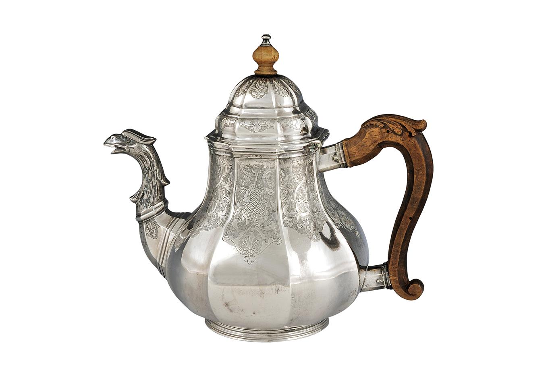 Zilveren theepot - Zeeuws Veilinghuis