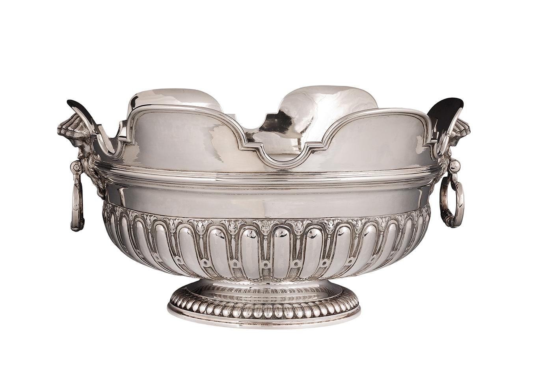 Zilveren glazenkoeler - Zeeuws Veilinghuis