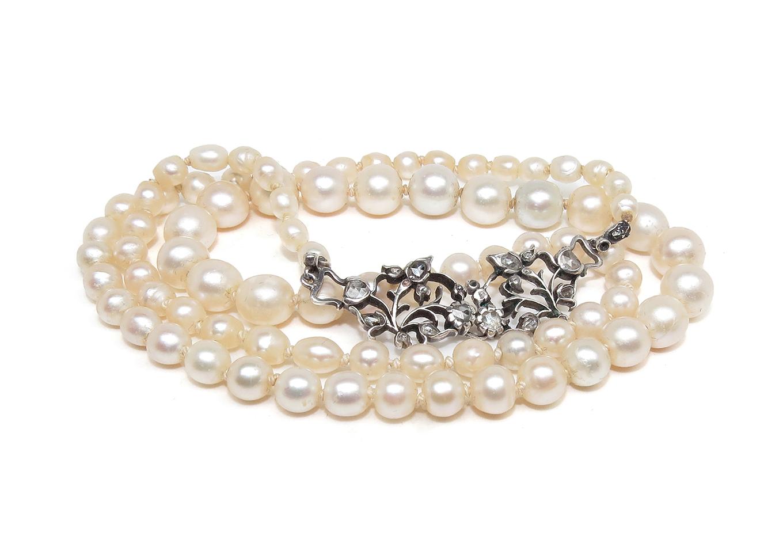 Natuurlijk parelcollier - Zeeuws Veilinghuis - natural pearls